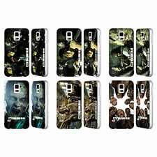 AMC THE WALKING DEAD WALKERS CHARACTERS SILVER SLIDER CASE FOR SAMSUNG PHONES