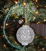 Tree Hanging Flashing Sparkling Sphere Ball Christmas Holiday Decor Ornament