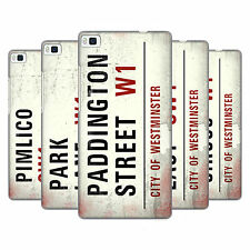 OFFICIAL LONDON VINTAGE STREET SIGNS 3 HARD BACK CASE FOR HUAWEI PHONES 1