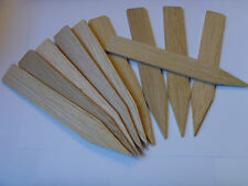 Lovely British oak wood plant markers x 10 made from recycled timber