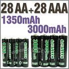 28 AA+28 AAA 1350mAh 3000mAh 1.2V NI-MH rechargeable battery 2A 3A GO!Green