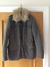 Yves Salomon Army Rare jacket rabbit fur lining EU38