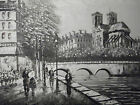 paris notre dame large oil painting canvas modern art cityscape street france