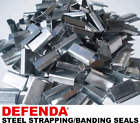2000 x 16mm x 25mm Steel Metal Hand Pallet Strapping Banding Seal Clips SO16
