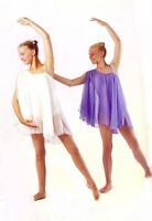 IN STOCK Elegant PALE PINK Lyrical Greek Chiffon Dance Costume 3A CL