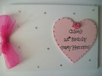 Personalised 21st Birthday Guest Book/Photo Album ANY COLOUR!
