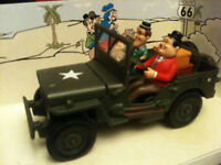 Laurel & Hardy Army USA Jeep Willys WWII Military New 1:32 boxed unopened mint