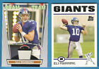 ELI MANNING STADIUM BEAM TEAM GU JERSEY CARD & 2004 TOPPS ROOKIE NEW YORK GIANTS