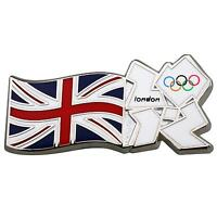 Team GB Union Flag with Union Jack  London 2012 Olympic Logo Tie Coat Pin Badge
