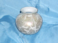 Royal Brierley Studio irridescent ovoid glass vase
