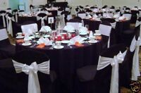 WEDDING SATIN CHAIR COVER FOR SALE BLACK NEW UK