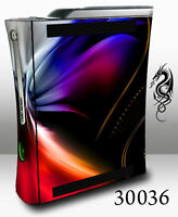 XBOX 360 Skin - 30036 blue and red plasma swirl