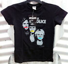 THE POLICE WOMEN'S BLACK T-SHIRT SIZES: S, M, XL *NEW