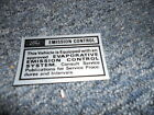 1970 FORD MUSTANG CALIF EVAPORATION EMISSIONS DECAL