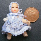 1:12 Scale Dolls House Miniature Baby In Blue Nursery Accessory 156