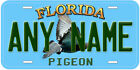 Pigeon Florida Aluminum Any Name Personalized Car Novelty License Plate
