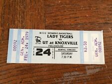 1979 Tennessee Vols Womens Full Basketball Ticket
