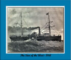 PRINT OF THE GREAT EASTERN , FAMOUS SHIP of the past
