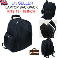 New Black Laptop School Travel Backpack Rucksack Bag