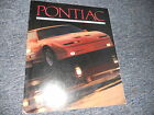 1989 PONTIAC FIREBIRD GRAND PRIX AM SALES BROCHURE