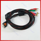 1PC NEW HDMI to 5 RCA Audio Video AV Component Cable Wire 1.5m