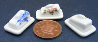 1:12 Ceramic Butter - Cheese Dishes Dolls House Miniature Kitchen Accessory