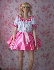 FANCY DRESS,SISSY / SATIN AND COTTON PARTY DRESS,FETISH