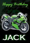 PERSONALISED SUPERBIKE MOTORBIKE BIRTHDAY CARD