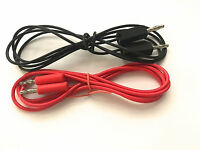 Test Lead Banana Plug red & black Stackable pack of 2