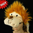 Cartoon Animal Lion Cute Fluffy Plush Hat Cap Costume