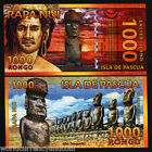EASTER ISLAND 1000 RONGO NEW 2011 MASK UNC POLYMER NOTE LOT OF 10 PCS