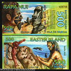EASTER ISLAND 500 RONGO NEW 2011 DOLPHIN UNC POLYMER NOTE BUNDLE LOT OF 50 PCS
