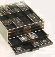 Quadrum Square Coin Capsules Storage Tray For 20 Coins