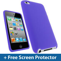 Purple Silicone Skin Case for Apple iPod Touch 4th Gen 4G 8/32/64GB iTouch Cover
