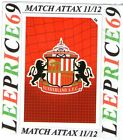 MATCH ATTAX 11/12 LIMITED EDITION CLUB BADGE SUNDERLAND