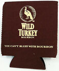 WILD TURKEY YOU CAN'T BLUFF WITH BOURBON FOLD FLAT CAN STUBBY COOLER ($11.95rrp)