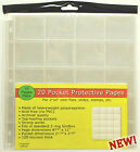 20 Pocket Pages (6 packs of 10) for 2x2 Coin Flips, Slides, Stamps, etc