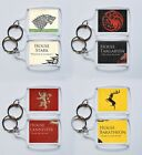 GAME OF THRONES keyring HOUSE STARK, TARGARYEN, LANNISTER etc. 4.5cmx3.5cm