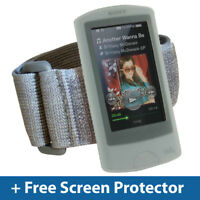 Clear Silicone Skin Case Cover Armband for Sony Walkman NWZ-A865 NWZ-A864 Series
