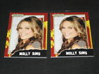 LOT (2) MOLLY SIMS POPCARDZ STAR GENUINE EVENT WORN CERTIFIED AUTHENTIC SWATCHS