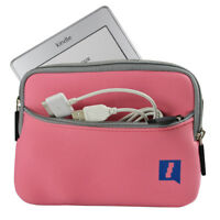 """Pink Neoprene Case Cover for New Amazon Kindle Touch Wi-Fi 6"""" 3G Travel Sleeve"""