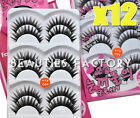 12 Pairs Natural False Eyelashes Human Hair Lash Fake Eye Lashes (Style #3) 478C