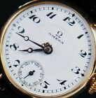 Old 18K Gold OMEGA Vintage Officers Trench Watch UHREN MONTRE RELOJ OROLOGIO