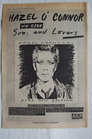 1980 - HAZEL O'CONNOR - Sons & Lovers + UK Tour - Press Advert - Poster Size
