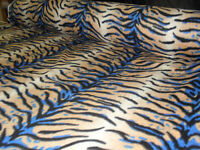 60 Inch Width Tiger Print Polar Fleece, Material,Fabric,Soft And Washable