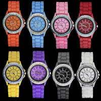 Classic Gel Silicone Crystal Men Lady Jelly Watch Gifts Stylish Fashion Luxury