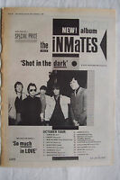 1980 - THE INMATES - Shot In The Dark + UK Tour - Press Advert - Poster Size