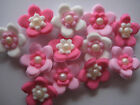 36 EDIBLE CAKE TOPPERS CUPCAKE DECORATIONS WEDDING BIRTHDAY PARTY MINI BLOSSOMS
