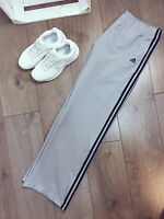 Adidas Ladies Tracksuits Bottoms in GREY/BLACK - MANY SIZES -RECOMMENDED!
