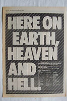1980 - BLACK SABBATH - Heaven & Hell + UK Tour Dates - Press Advert Poster Size